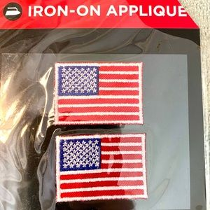 American Flag Iron on Patch Appliqué Stars Striped